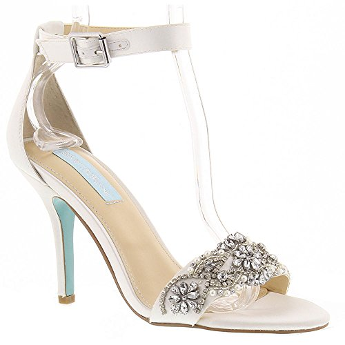 Blue by Betsey Johnson Women's SB-Gina Dress Sandal, Ivory, 12 M US by Betsey Johnson