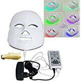 Denshine 7 Colors LED Facial Mask Skin Rejuvenation Light Therapy Beauty Machine for Reduces Wrinkles Anti Aging Shrink Pores Facial Treatment Reduce Acne - US Shipping, 3-6D Delivery