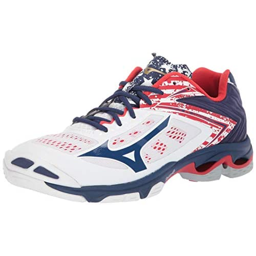 mizuno men's wave lightning z5 indoor court shoe watch white