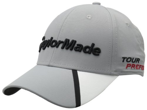 (TaylorMade Tour Split Hat, Gray, Adjustable)