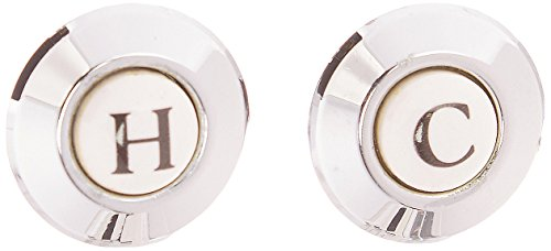 American Standard 066522-0020A Cross Handle Index Button, Polished Chrome by American Standard