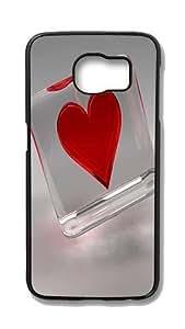 Samsung Galaxy S6 Edge Customized Unique Hard Black Case Love Case S6 Edge Cover PC Case