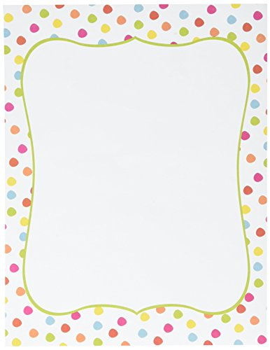 Great Papers! Circus Dots Letterhead, 8.5