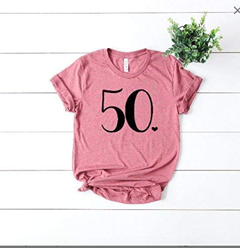 50th Birthday Shirt - Cute Funny Womens Bday Top - Over The Hill Shirt - Birthday Girl Tee - Perfect Bday Gift