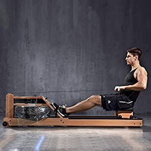 Well-Being-Matters 41TnQYipxzL._SS300_ BATTIFE Real Solid Wood Rowing Machine with Phone Holder, Water Resistance Rower with Bluetooth Monitor, Workout for…