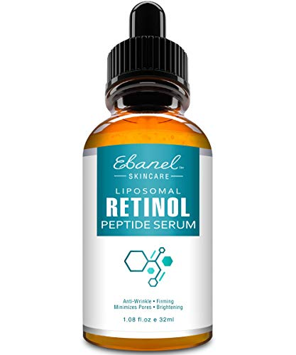 Retinol Serum 2.5 with Hyaluronic Acid & Peptide Complex Serum - Great Pure Retinol Serum for Face Wrinkle Reducer for Face - Anti Aging Anti Wrinkle Serum, Eye Wrinkle Serum, Acne Serum by Ebanel