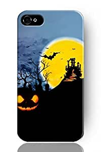 THYde DaojieTM New Classic Vintage Charming Design Personalized Hard Plastic Snap on Slim Fit Bright Moon Pumpkin and Bats Iphone5/5s Case ending