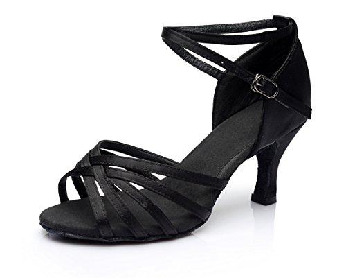 Damen Latein 34 Schuhe VESI Standard Schwarz 5cm 7cm Absatz adCZw