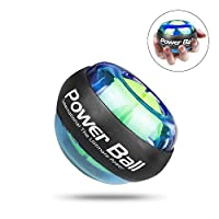 Wisdoman Wrist Ball Gyroscope Strengthener Ball, Gyroscopic Wrist and Forearm Exerciser, Gyroscope Powerball Wrist Strengthener Workout for Arm & Muscle Exercise at Home or Gym