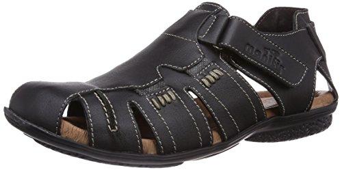 Nero sandali chiusa 620187 1 Schwarz Uomo Manitu punta XzZTxwXq