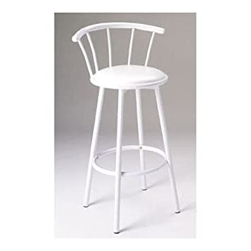 Set of 2 29 H Metal Swivel Bar Stools White Finish