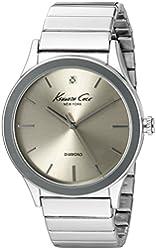 Kenneth Cole New York Men's 10024366 Genuine Diamond Analog Display Japanese Quartz Silver Watch