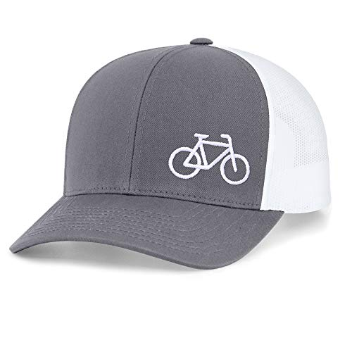 (Low Key Caps | Trucker Snapback - Bike Graphite/White)