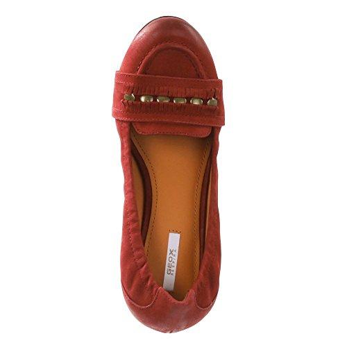 Geox–Bailarinas Trixie Scarlet/rojo oscuro Rojo - rojo (Scarlet)