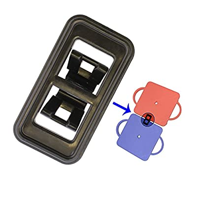 Get Out! Manual Scooter Board Short Plastic Connection Clips 2-Pack – 3.5in Length to Link Together for Kids Gym : Sports & Outdoors