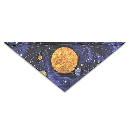 OLOSARO Dog Bandana Solar System Triangle Bibs Scarf Accessories for Dogs Cats Pets Animals