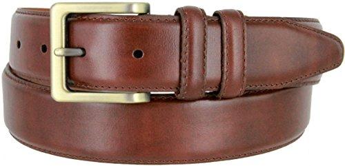 Calfskin Belt Strap (Lejon UN-1536 Genuine Italian Calfskin Leather Dress Casual Belt 1-3/8