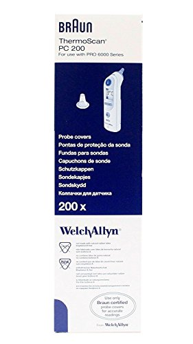 Welch Allyn 06000-005 Braun Thermoscan Pro 6000 Probe Covers - - 4000 Pro Thermometer Ear