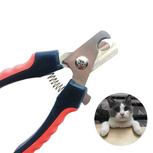Geschickt pet nail trimmer Nail Clippers for Dogs includes file Scissor Types Stainless Steel grooming tools Safety ()