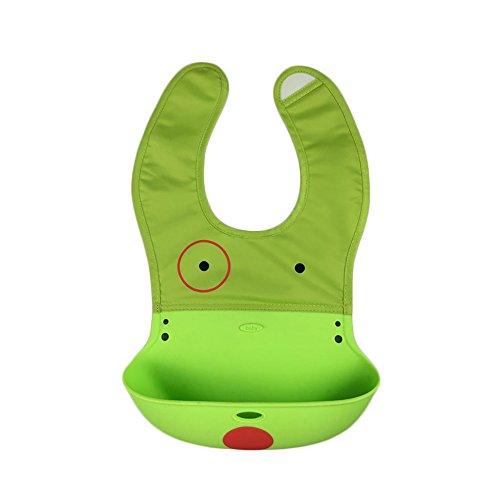 Webeauty® Conjunto de 2 - suave silicona impermeable Babero para bebés Los bebés con el bolsillo baberos (sy) gx