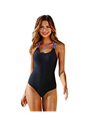 Lavany Women Swimsuit,One Piece Backless Bandage Bikini Push-up Padded Beachwear