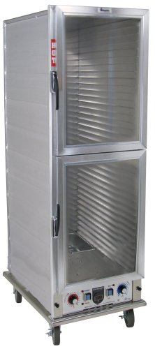 "Lockwood CA67-PF34-CDD-R Aluminum Full Height Non-insulated Economy Proofing and Heating Cabinet with Clear Dutch Door, 34 Pan Capacity, 22-3/8"" Width x 67-7/8"" Height x 31-3/16"" Depth"