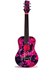 CB SKY 30 INCH ACOUSTIC GUITAR PINK FLOWER Junior/Student Acoustic Guitar/Beginner/Kids musical toys, musical instrument