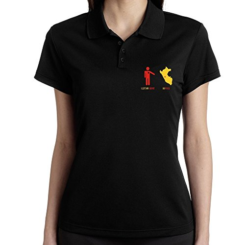 Teeburon I LEFT MY HEART IN Peru MAP - Polo Femme