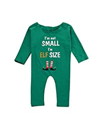 CYNDIE Baby Girls Boys Christmas Long Sleeve Jumpsuit Outfits Clothes X'Mas Loungewear