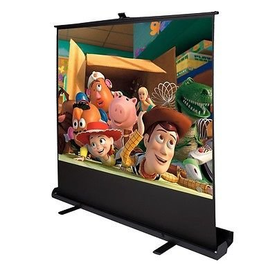 100'' Inch 4:3 Portable Pull up Floor Projector Projection Screen aluminium Case by Apontus