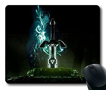 Custom Gaming Mouse Pad Avec The Legend Of Zelda Epee Graphique Fond