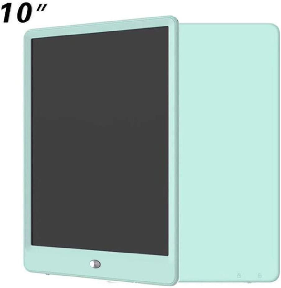 LCD Electronic Tablet Writing Board,10 Inch Colorful Display LCD Writing Tablet Kids Writing and Drawing Electronic Writing Board for Instead of Paper Color : Green