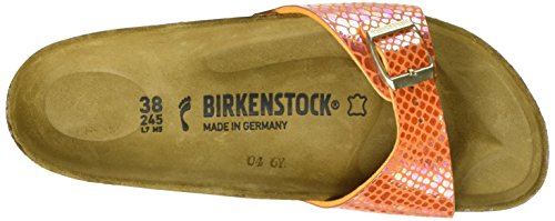 Birkenstock Madrid Birko-flor - Mules Mujer Orange (Shiny Snake Orange)