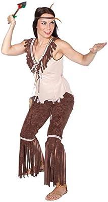 Disfraz de india con flecos mujer Taille S: Amazon.es: Juguetes y ...