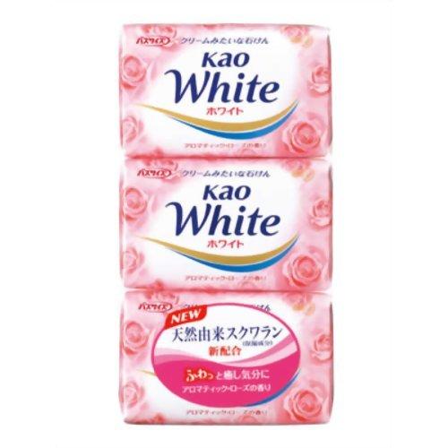 暴徒差書く花王ホワイト アロマティックローズの香り バスサイズ 130g*3個入