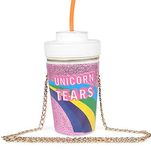 LUI SUI 2017 Unicorn Tears Girls Drink Cross Body Bag Chain Purse (Purple)