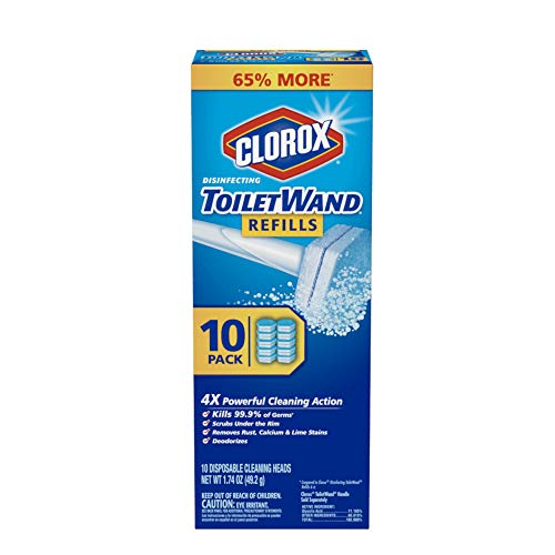 Clorox ToiletWand Disinfecting Refills, Disposable Wand Heads - 10 Count