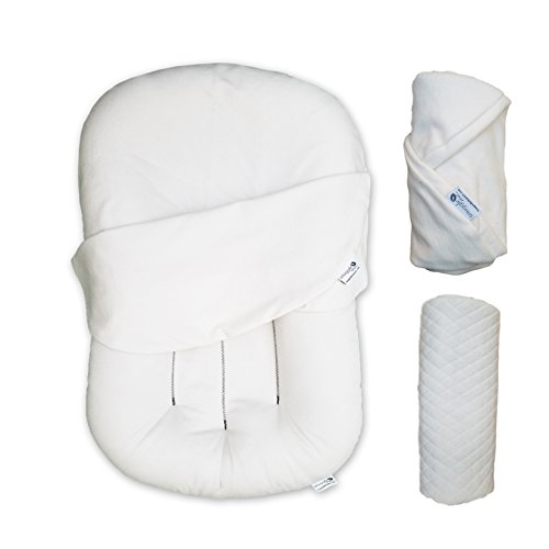 Snuggle Me Organic | Baby Bundle | lounger, 2 natural covers, puddle pad