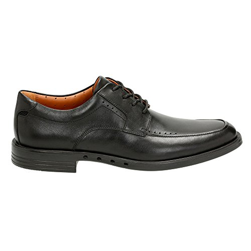 CLARKS Mens Un.Bizley View Black Leather qk3YtU9dY