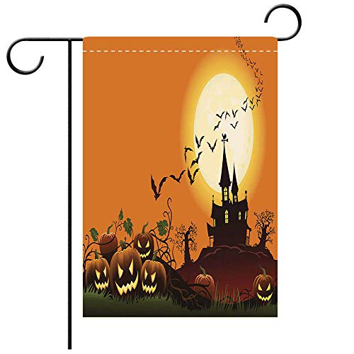 BEICICI Artistically Designed Yard Flags, Double Sided Haunted House in Moonlight Decorative Deck, Patio, Porch, Balcony Backyard, Garden or Lawn