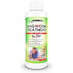 Vet Recommended Ringworm Treatment For Dogs - Concentrate Makes Two 16oz Bottles of Antifungal Spray Safely Kills Viruses, Disease Causing Bacteria, Spores and Fungi - Made in USA (4oz/120ml)