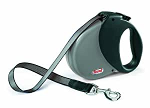 Flexi Durabelt Soft Grip Retractable Belt Dog Leash, Large/Extra Large, 16-Feet Long, Supports up to 150-Pound, Grey/Black