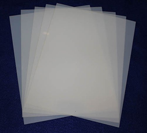 Mylar 5 Pieces of 14 Mil 8 1/2''x11'' Blank Sheets - Quilting / Sewing / Stencil/templates by TCR Templates