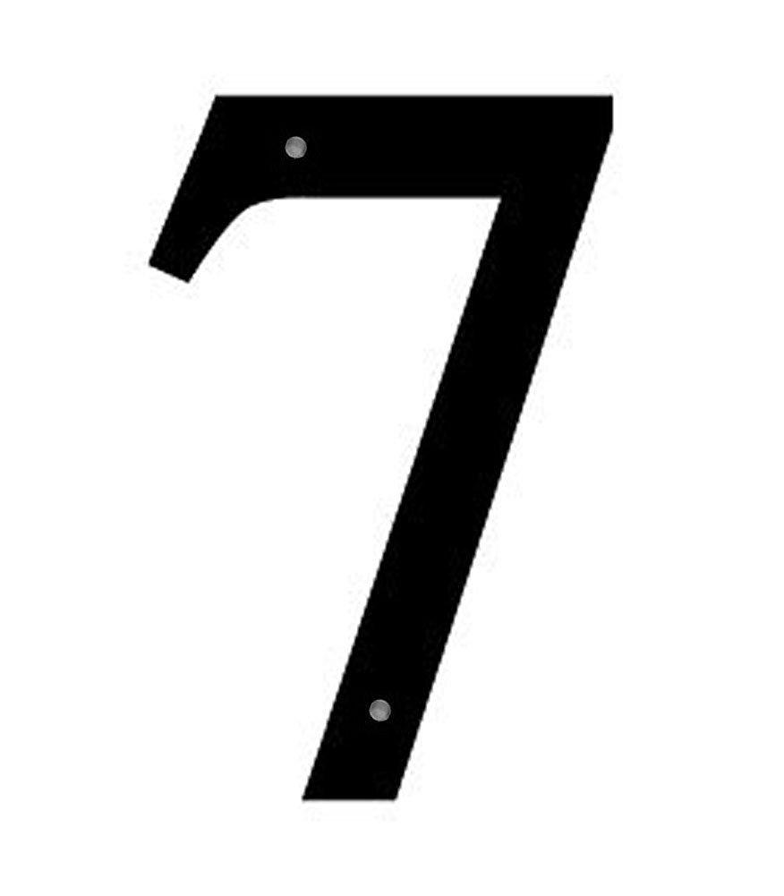 Iron House Address Number 7 Medium 12' - Black Metal