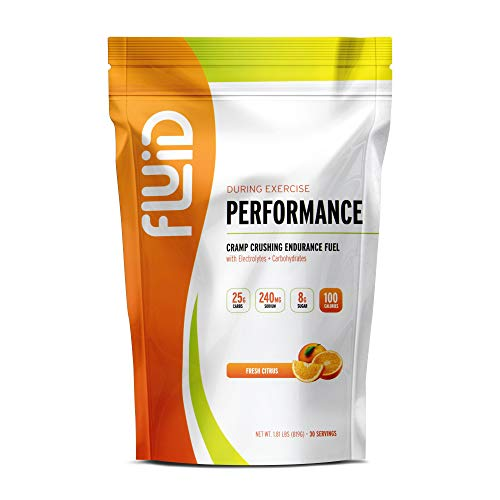 (Fluid Performance - Low Sugar Endurance Fuel Sports Drink Mix with Electrolytes, All Natural Ingredients, Gluten-Free for Before or During Exercise)