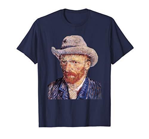 Vincent van Gogh Self portrait with Felt Hat Art T Shirt (Vincent Van Gogh Self Portrait With Felt Hat)