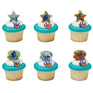 Finding Dory Adventure is Brewing Cupcake Rings - 24 pcs