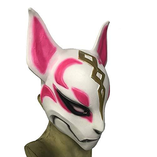 Fox Drift Mask, Natural Latex Mask Helmet Party Mask Helmet for Adults Kids