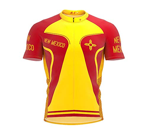ScudoPro New Mexico Bike Short Sleeve Cycling Jersey for Men - Size XL