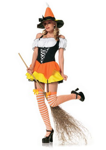 [Candy Corn Witch Adult Costume - Plus Size 1X/2X] (Teenage Girls Halloween Costumes Ideas)